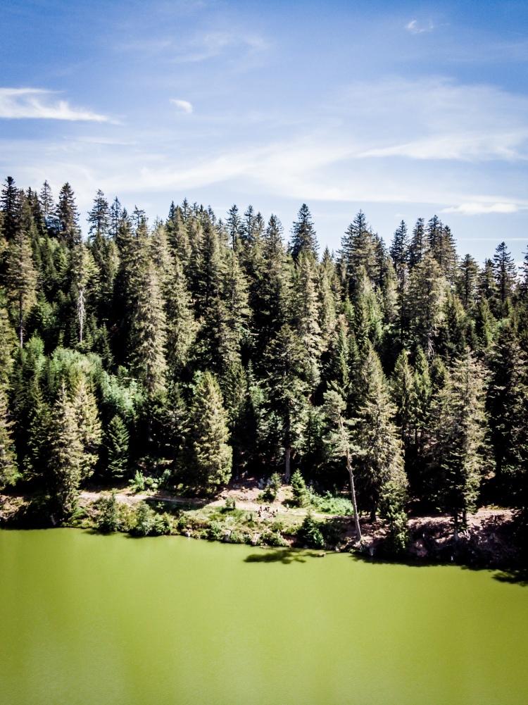 Pique-nique au bord du lac Vert, photo drone / Crédit photo - Pierrick Aubert